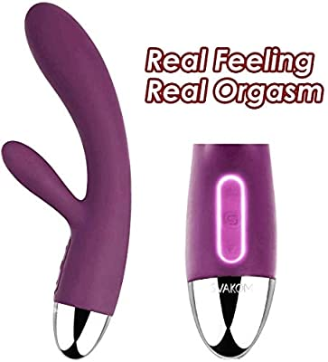 Rabbit Vibrators, SVAKOM Alice Powerful G-spot Clitoral Massager for Women with Intelligent Mode, Vibrator with Bunny Ears for Clit Clitoris Stimulation, Double Motors and Rechargeable (Violet)
