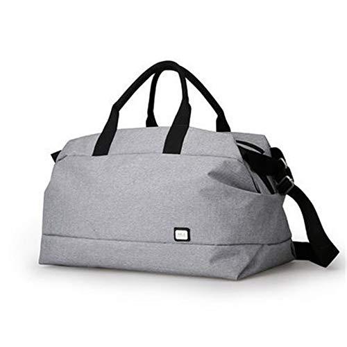 Jklt Large-capacity Luggage Bag Men Travel Bag Large Capacity Multifunctional Hand Bag Waterproof Luggage Bag Sports Travel Swimming (Color : Black, Size : 50x28x28cm)