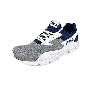 Fila Fastreactor Mens Running Sneaker White/Navy/Grey (10.5)