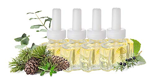 (4 Pack) Sycamore Fir Pine Plug in Refills Air Freshener - Fits Air Wick® Scented Oil Warmers