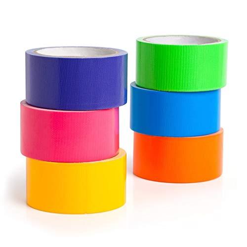 Multi Colored Duct Tape -6 Pack Variety Set, Girls & Boys Kids Fun DIY Craft Duck Set