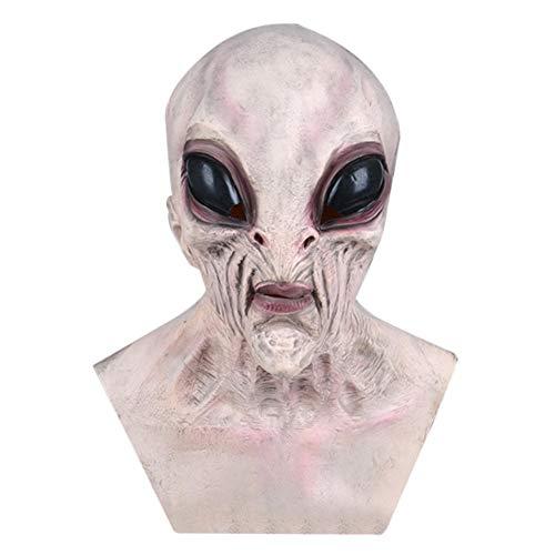 lefeindgdi Aliens - Sombreros de látex para Halloween Aliens, transpirable, disfraz de mascarada de Halloween para Halloween