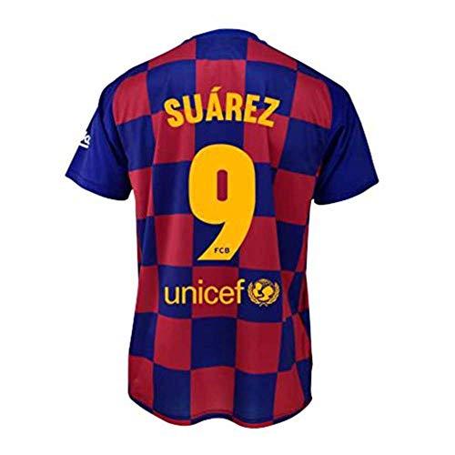 Camiseta 1ª equipación FC. Barcelona 2019-20 - Replica Oficial con Licencia - Dorsal 9 Suarez - Adulto Talla XL