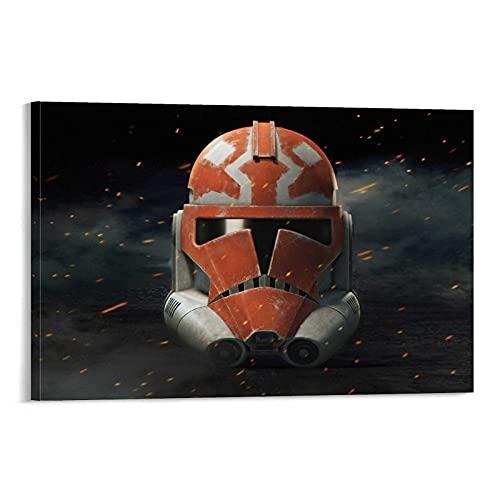 Trelemek Star Wars Clone Trooper - Cuadro de pared (40 x 60 cm), diseño de tropas