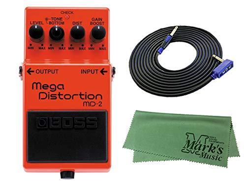 BOSS Mega Distortion MD-2 + 3m ギターケーブル VOX VGS-30+クロス セット