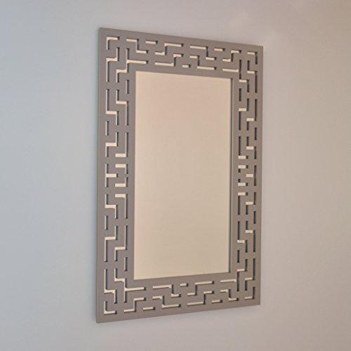 DECOHOGAR.SHOP Miroir Mural rectangulaire - Labyrinthe Petit - 47 x 70 cm - Laqué Noir