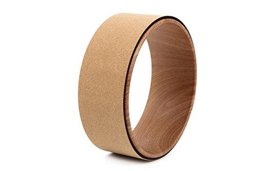 OHplus(オーエイチプラス) ヨガホイール コルク ストレッチ [ヨガリング] ポーズ補助 プロップス 直径33㎝×幅13㎝ 全6色 (コルク/ロゴ無し)