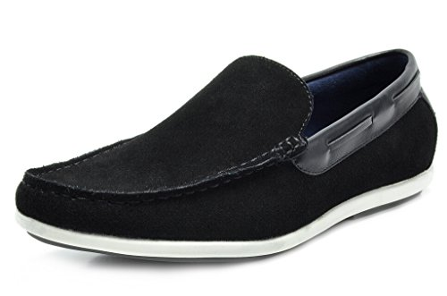 Bruno Marc Men's Kilin-01 Black Driving Loafers Moccasins Shoes – 12 M US