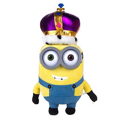 Whitehouse Plüsch Minion Dressed Up Minion mit Krone Minion Plüsch Minion mit Plastikbrille, weicher und kuscheliger Plüsch, 33cm