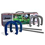 Franklin Sports Horseshoes Sets - Includes 4 Horseshoes and 2 Stakes - Official Weight Horseshoes and Stakes - All Weather Durable Sets - Family