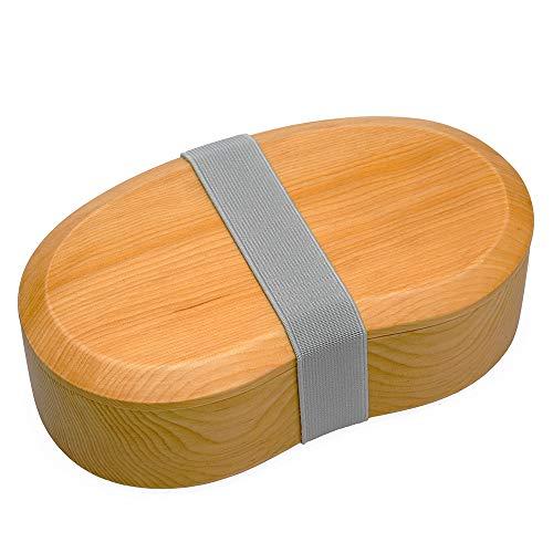 [Eaoike] そらまめ弁当箱 天然木をくり抜いて造られたおしゃれなおべんとう箱