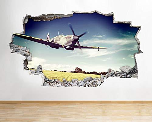 Z070 Spitfire Hurricane vliegtuig leger jongens wandtattoo poster 3D kunst stickers medium