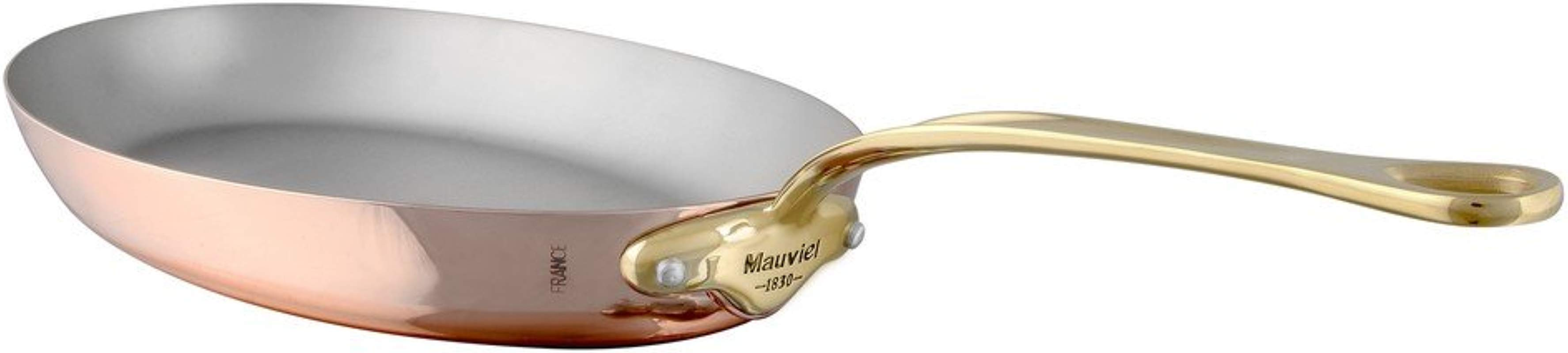 Mauviel 6725 30 M Heritage M 150B Copper Oval Frying Pan 11 8 Bronze Handle