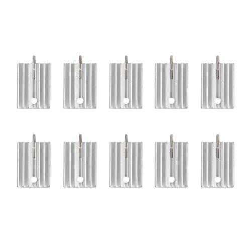 JunYe 10Pieces TO-220 Aluminium Kühlkörper Transistor Kühler Kühlkörper Kühler Kühlung 21 MM