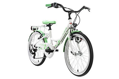 KS Cycling Kinderfahrrad 20'' Dandelion Aluminium weiß-grün Alu-Rahmen