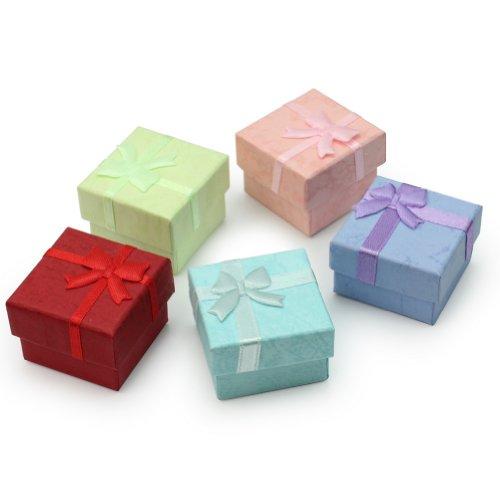 Pinzhi - 5X Cartón Cajas de Regalo para Joyas Pendiente Collar Anillo (Envío al Azar)