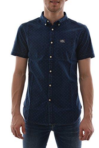 M chemise manches courtes superdry london loom s/s shirt bleu