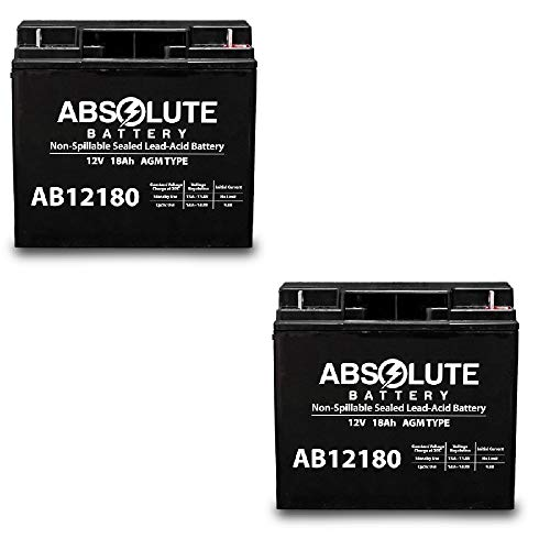 Great Price! 2 Pack AB12180 12V 18AH SLA Battery Westward Jump Starter