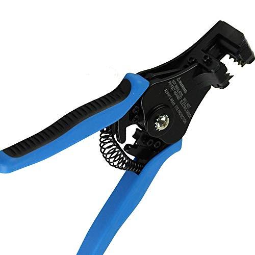 LOKIH Pelacables Automático, Engarzadora Cortadora De Cables, Alicates Múltiples para Pelar, Cortar Y Prensar Cables,Longitud: 180 mm / 7Inch,Azul