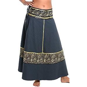 ufash Falda Cruzada - Falda Maxi de la India, con Lazos - Muchos diseños Diferentes | DeHippies.com