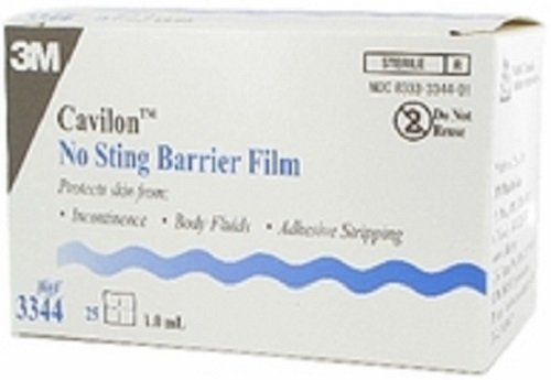 3M Health Care 3344 Cavilon No Sting Barrier Film, 1 mL Wipe (Pack of 100)