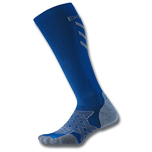 Thorlo Experia Energy Compression Over The Calf Chaussettes Mixte Adulte, Royal Blue, FR : S (Taille Fabricant : S)