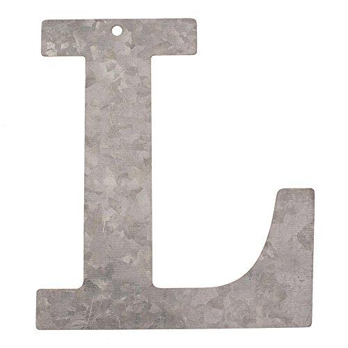 Glorex Lettera zincato L, Metallo, Argento, 18x 16x 0.5cm