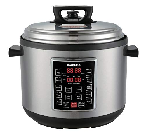 Best Multi Cookers - GoWISE USA 12-Quart XL Programmable 10-in-1 Electric Pressure Cooker/Slow Cooker Image