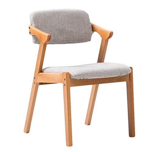 FENDOU Silla de comedor, simple silla de escritorio, respaldo creativo, silla de ocio, silla de comedor para adultos en casa (color: gris claro)