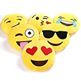 Charms Gift Basket Emoji Pillows Cushion Plush Smiley Gift for Girlfriend Soft Round