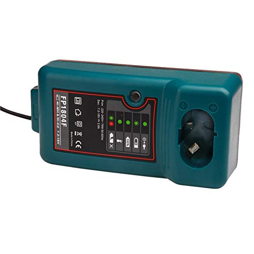 Fltaheroo Caricabatterie per Accessori Trapano Avvitatore Elettrico per 7.2V 9.6V 12V 14.4V 18V DC1804 DC1414T DC1414F 9100A Spina UE