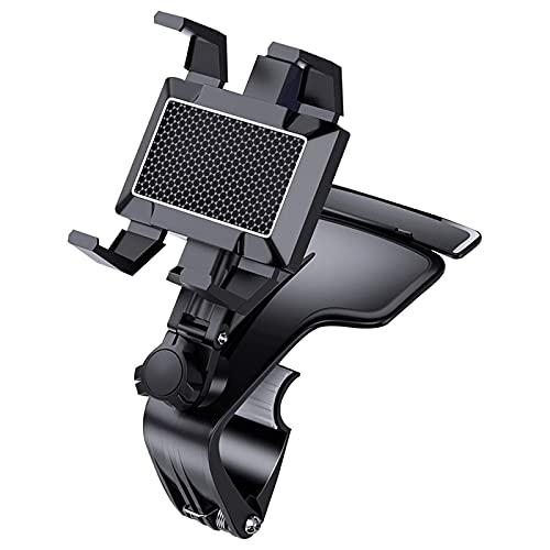 Soporte Móvil Coche ZWRY Soporte para automóvil Soporte de Montaje de Control de operación de una Mano de 360 ° Grados para teléfono móvil para GPS Negro