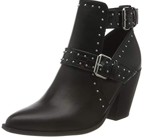 Only Damen ONLBLAKE-3 Cut Out Heeled Boot Stiefelette, Black, 38 EU