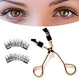Magnetic Eyelashes Curler Set, Magnetic Eyelash Partner, Magnetic Quantums Magnetic Eyelash Curler Set, Quantum Soft Magnetic False Eyelashes for Women