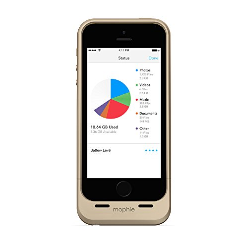 Mophie Custodie per iPhone 5/5S con memoria Ausiliare da 16 GB, oro