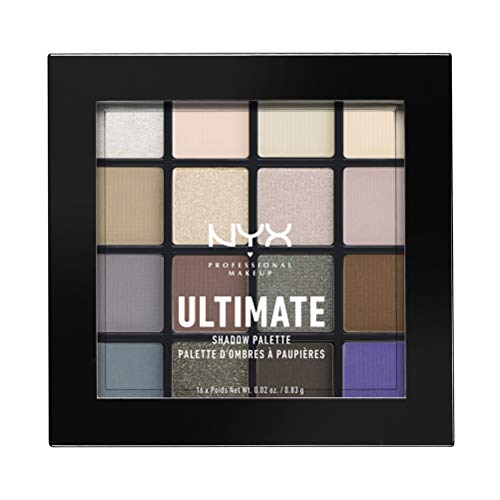NYX Professional Makeup Ultimate Shadow Palette Cool Neutrals, 21 g