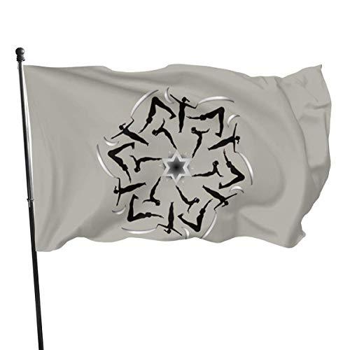 LL-Shop Pilates Star Personalisieren und dekorieren Sie die Gartenflagge