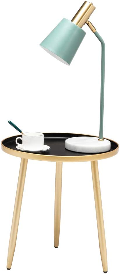 Firlar Round Side Table OFFer Ranking TOP4 Nightstand End Gold Metal