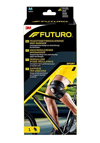 FUTURO FUT45696 SPORT Knie-Bandage, beidseitig tragbar, latexfrei, Größe M, 38,0 – 43,0 cm