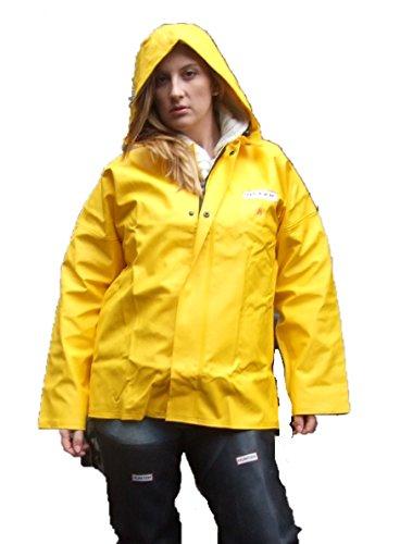 Ocean Classic Jacke - Ölzeugjacke aus PVC auf Baumwollträger. DAS Ölzeug für den Profi (8XL, gelb)