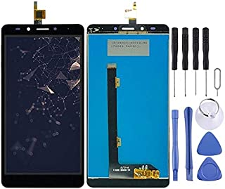 New LCD Screen and Digitizer Full Assembly for Tecno Infinix Note 3 Pro X601(Black) Zhangtender (Color : Black)