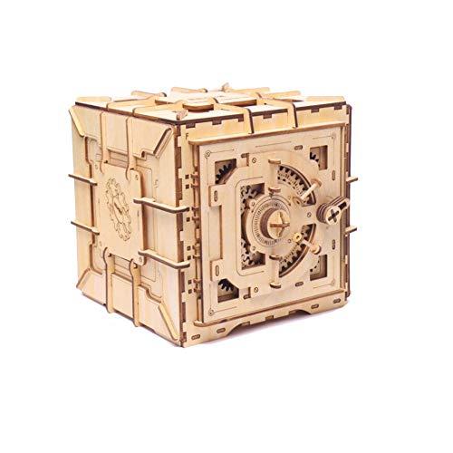 Precauti Treasure Box 3D Holz Puzzle-Mechanische Modellbau Kits BAU Modell Kits mit Schlüssel für Teenager und Erwachsene