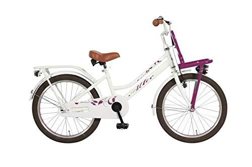 Altec 20 Zoll Kinder City Fahrrad Kinderfahrrad Cityfahrrad Mädchenfahrrad Bike Rad Rücktrittbremse Beleuchtung Frontträger TUANA PINK WEIß
