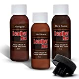 Leather Max Quick Blend Refinish and Repair Kit, Restore Couches, Recolor Furniture & Repair Car Seats, Jackets, Sofa, Boots / 3 Color Shades to Blend with/Leather Vinyl Bonded and More (Dark Browns…