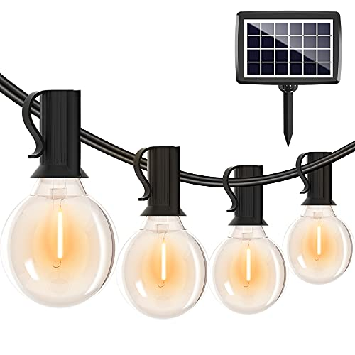 Solar String Lights Outdoor-27FT G40 Patio Lights with Shatterproof Edison Bulbs Only $20.00 (Retail $49.99)