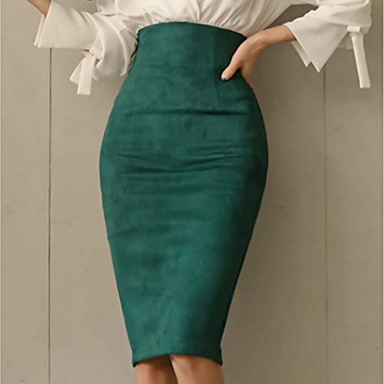 Women's Basic Bodycon Skirts  Solid colord
