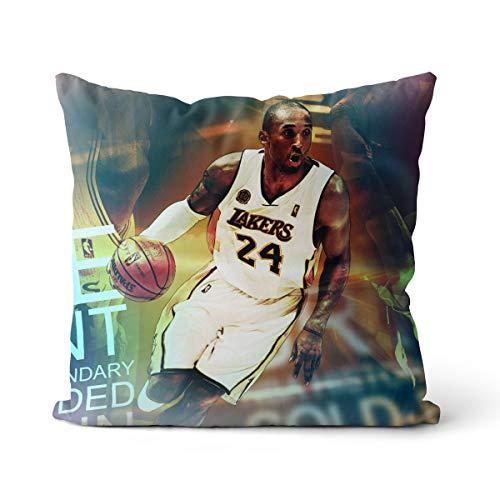 Kobe Bryant NBA Championship Funda de Almohada Black Mamba No Puedo Pagar la Pelota Funda de Almohada Diseño de Cremallera Invisible 45x45cm