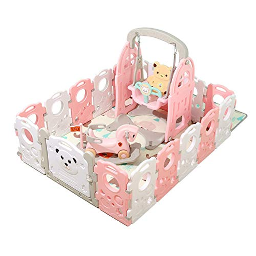 WTT Baby Play Fence Home Baby Toddler Crawl Fence Game Fence Children Fence Game Safety Entertainment Center Parque de Atracciones Interior y Exterior