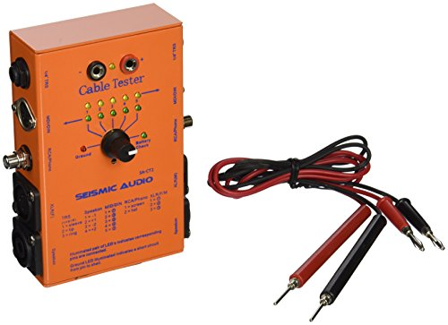 """Cable Tester - Test XLR, 1/4"""" TRS, 1/4"""" TS, Speakon (2 and 4 Pole), RCA, MIDI (3 and 5 Pin). Includes Test Leads. Audible Test Tone. Boutique Look. Heavy Duty"""