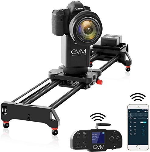 GVM Kamera Schiene Motorisiert, 80cm 2-Achsen Kamera Schieberegler mit APP und drahtlosem Controller, 360° Panorama Fotografie schießen und Zeitrafferfotografie für DSLR Kameras Video Fotografie